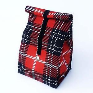 lunchbag czerwona kratka