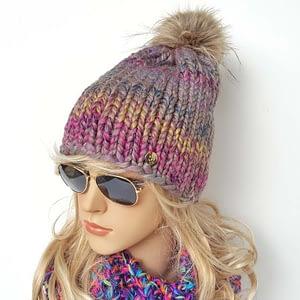 melanżowa czapka wełniana