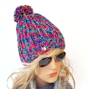 mega kolorowa czapka