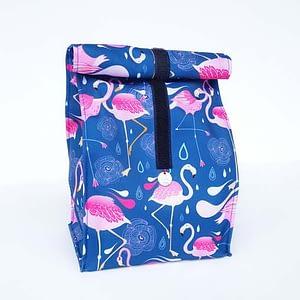 lunchbag śniadaniówka flamingi