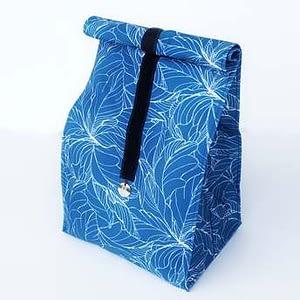 lunchbag niebieskie kwiaty S