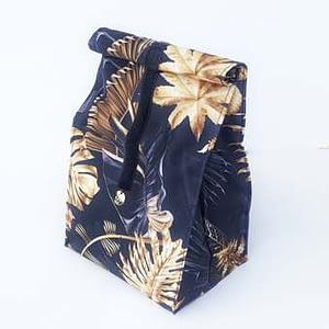 lunchbag złote liście