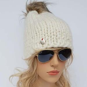 Naturalna czapka wełniana