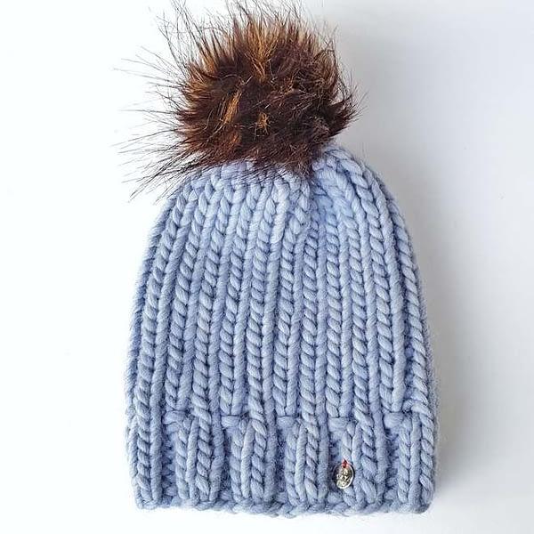 denim gruba czapka wełniana