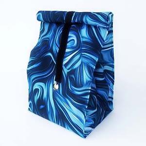 lunchbag niebieska farba