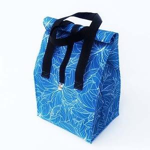 lunchbag niebieskie kwiaty